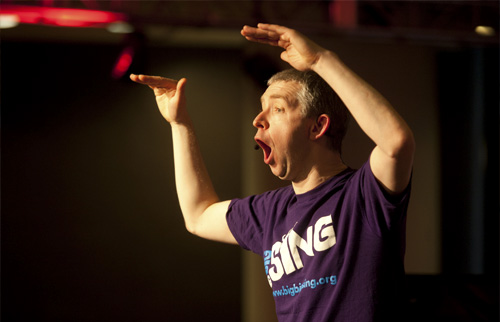 Stephen Deazley Big Big Sing choir leader